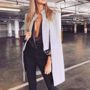 Jackets & Blazers - Fierce grey cape
